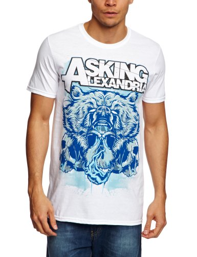 T Shirt Asking Alexandria Orso Teschio (Bianco) - Large
