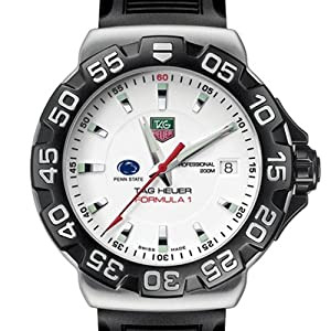 Penn State TAG Heuer Watch - Mens Formula 1 Watch with Rubber Strap by TAG Heuer