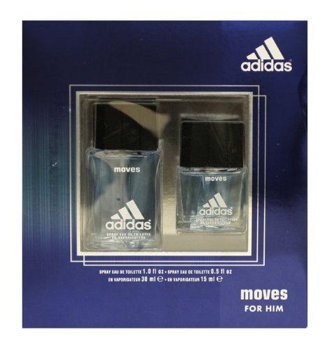 Adidas Moves By Adidas For Men. Gift Set ( Eau De Toilette Spray 1.0 Oz + Eau De Toilette Spray 0.5 Oz )