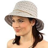 Summer Light Derby Flapper Pretty Crochet Knit Cloche Bucket Church Hat Mint