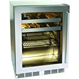 Perlick 16-bottle / 54 Can Built-in Beverage Center - Glass Door / Stainless Steel Trim - Hp24bs-3l