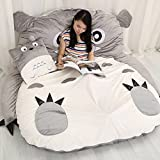 "YOYOMALL Super Soft My Neighbor Totoro Sleeping Bag,Warm Cartoon Tatami Beanbag,My Neighbor Totoro Sofa Bed,Twin Queen Bed Double Bed. (Size 1: 110CM * 180CM (43"" * 71""))"