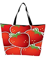 Snoogg Strawberry Sticker Background Card In Vector Format Waterproof Bag Made Of High Strength Nylon