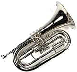 Advanced Monel Pistons Marching Baritone Key of Bb w/ Case & Mouthpiece-Nickel Plated Finish