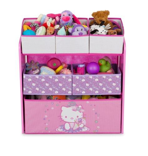 Delta children mueble organizador de juguetes con varias cestas dise o de hello kitty en bebe - Mueble organizador de juguetes ...