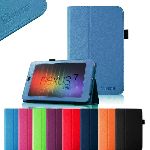 Learn More About FINTIE (Royal Blue) Slim Fit Folio Stand Leather Case Cover for Google Asus Nexus 7...