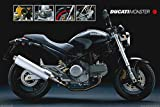 Motorcycle - Ducati Monster by unknown. Size 36.00 X 24.00 Art Poster Print