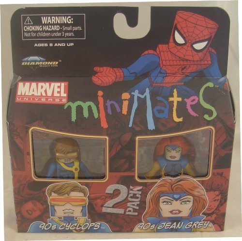 Picture of Art Asylum Marvel Minimates Series 34 Mini Figure 2Pack 90s Cyclops & 90s Jean Grey (B003EVB8FI) (Marvel Action Figures)