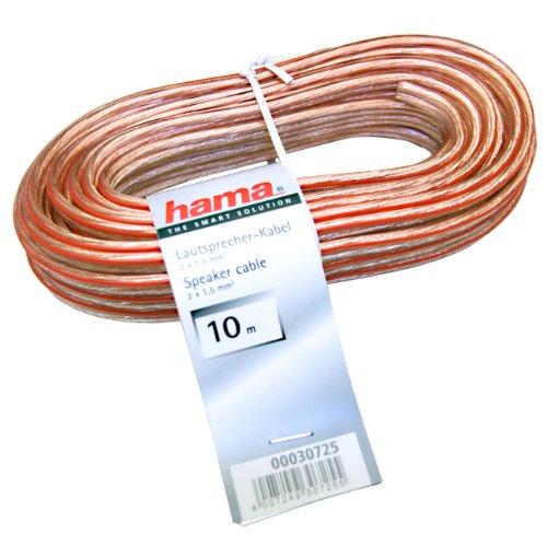 Hama-Lautsprecherkabel-Rolle-10m-2x-15mm-mit-Polarittskennzeichnung-transparent