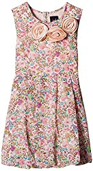 Herberto Girls' Party and Evening Dress (HRBT-DRESS-096-1_Pink_3 - 4  years)