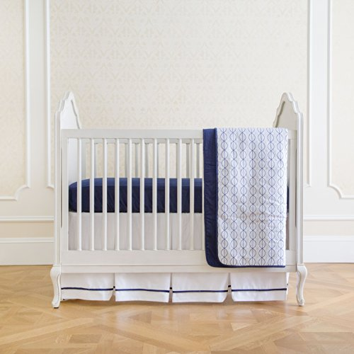 Summer Infant 4-Piece Classic Bedding Set With Adjustable Crib Skirt, Nautical Navy front-571630
