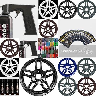 Pellicola-spray-cerchione-schermo-Set-4-x-400-ml-stencil-pistola-panno-in-microfibra