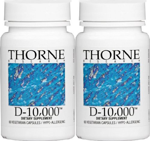 Thorne Research - Vitamin D-10,000 - 60 Vegetarian Capsules (Pack Of 2)