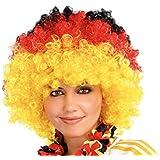PEARL Afro-Fan-Perücke in Deutschland-Farben