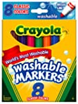 Crayola Broad Point Washable Markers,...