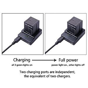 XCSOURCE® Dual USB Chargeur de batterie 3 ports + 6x 1180mAh AHDBT-201 / AHDBT-301 / AHDBT-302 Batteries + Câble Pour Gopro HD Hero 3 3+ BC321