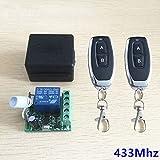 Calvas 20pcs 433Mhz Universal Wireless Remote Control Switch DC 12V 1CH relay Receiver Module & 3pcs RF Transmitter - (Color: 2remote1receiver) (Color: 2remote1receiver)