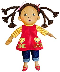 Merry Makers One Love Plush Doll, 9-Inch