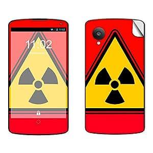 Skintice Designer Mobile Skin Sticker for LG Nexus 5, Design - Yellow Radioactive