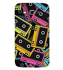 Music Tapes 3D Hard Polycarbonate Designer Back Case Cover for Samsung Galaxy Grand 2 :: Samsung Galaxy Grand 2 G7105 :: Samsung Galaxy Grand 2 G7102