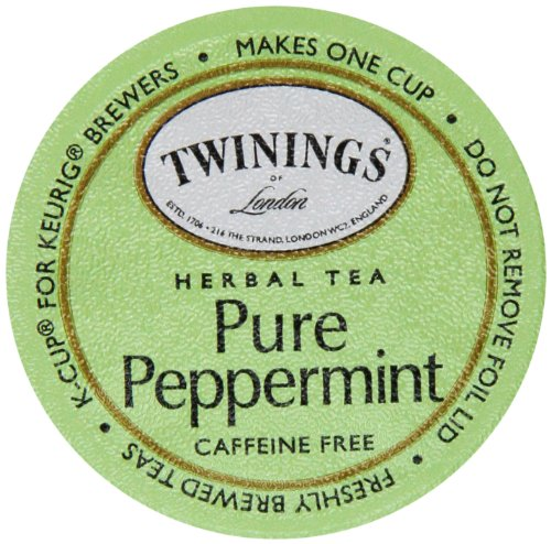 Twinings Of London K-Cup Portion Pack For Keurig K-Cup Brewers Pure Peppermint Tea, 72 Count (Pack Of 6)
