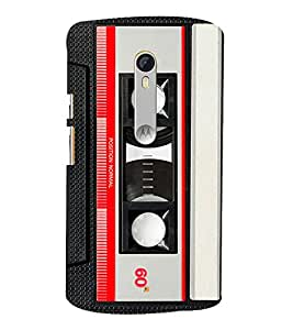 Cassette Player 3D Hard Polycarbonate Designer Back Case Cover for Moto G Turbo Edition