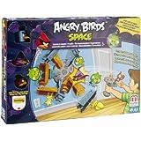 Mattel BBR29 - Angry Birds Lunar Launcher and Planet Base, Geschicklichkeits- und Actionspiel