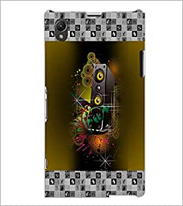 PrintDhaba Abstract Design D-3178 Back Case Cover for SONY XPERIA Z1 (Multi-Coloured)
