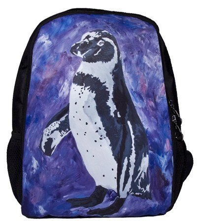 Penguin Backpack, Penguin Book Bag - Support Wildlife Conservation - Read How - From My Original Painting, Southern Sweethear