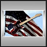FENDER TELECASTER USA A2 340GSM HEAVYWEIGHT DE TOILE DE COTON ART PRINT
