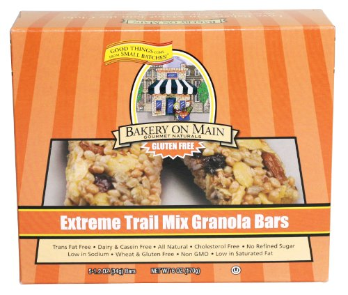 Bakery On Main Extreme Trail Mix, Gluten Free Granola Bars, 5 bars per box (Pack of 6 boxes)