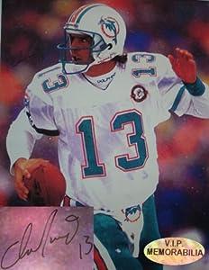 Dan Marino Hand Signed 30 x 40 Miami Dolphins Canvas Print by VIP Memorabilia
