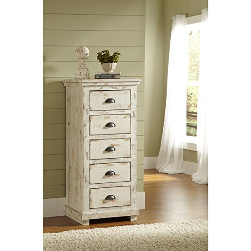 Montrose Distressed White Lingerie Chest - Fully Assembled