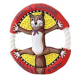 Dogloveit Animal Pattern Frisbee Flying Discs Pet Dog Toy Rope Ring,Squirrel,9\