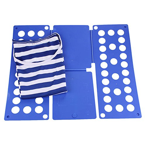 Amjimshop Vovotrade(Tm) Laundry Adult Child Magic Fast Easy Speed Folding Clothes Fold Board (Blue)