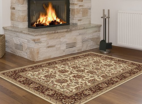 Universal Rugs Transitional Floral 3 Piece Area Rug Set , Beige