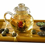 Primula PTA-4009 Flowering Tea Set with 40-Ounce Pot, 6 Flowering Teas, and Loose-Tea Variety Pack