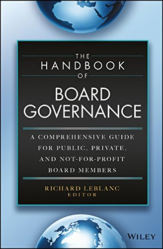 The Handbook of Board Governance: A Comprehensive Guide for Public, Private, and Not-for-Profit Board Members (Corporate Boards compare prices)