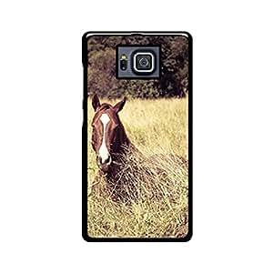 Vibhar printed case back cover for Samsung Galaxy Alpha HorsePic