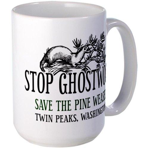 Cafepress Twin Peaks Pine Weasel Mug Large Mug - Standard Multi-Color