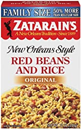Zatarain\'s Family Size New Orleans Style Mixes, Red Beans & Rice, 12-Ounce Boxes (Pack of 12)