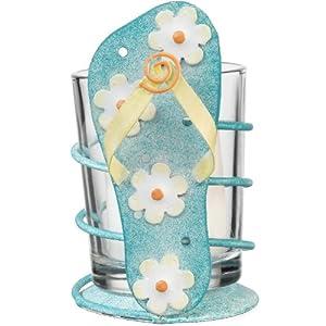 Votive Tealight Candle Holder Coastal Tropical Flip Flop - Regal Art