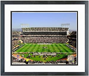 Oakland Raiders NFL Stadium Photo (Size: 22.5 x 26.5) Framed by NFL