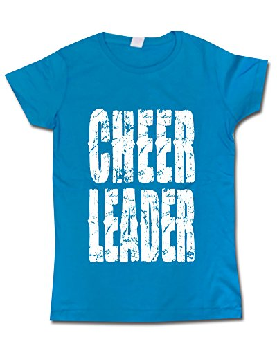 Sports Katz Print T Cheer Turquoise Youth Medium front-325469