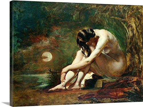 Moonlit Nude (oil) Gallery-Wrapped Canvas