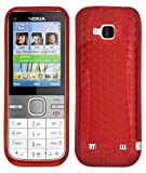 Cooltechstuff Nokia C5-00 Hexagon Diamond Soft Silicone TPU Red Case Cover - Part of Cooltechstuff Store Accessories