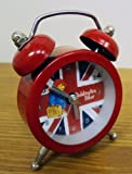 Retro Red Novelty Paddington Bear Cool Britannia Mini Beep Alarm Clock Gift