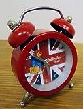 Retro Red Novelty Paddington Bear Cool Britannia Mini Beep Alarm Clock Gift