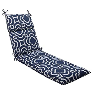 Pillow Perfect Indoor/Outdoor Carmody Chaise Lounge Cushion, Navy by Pillow Perfect