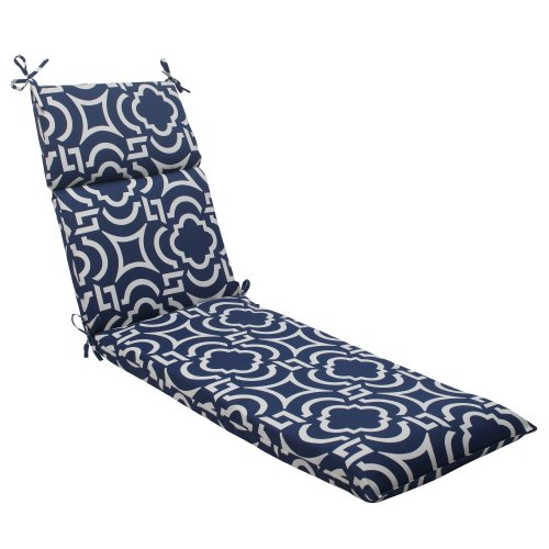 Pillow Perfect Indoor/Outdoor Carmody Chaise Lounge Cushion, Navy (Lounge Chair Cushions Outdoor compare prices)